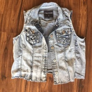 Maurices denim vest
